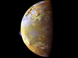 Jupiter's moon Io is one funky place. Credit: NASA/JPL